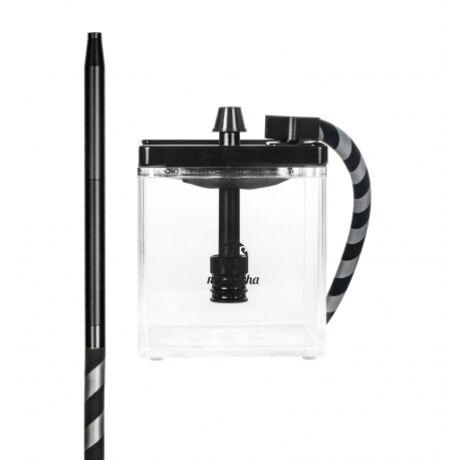 Narghilea MS Mashisha Micro Black Clear Portabil