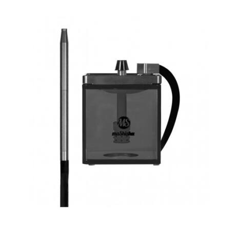 Narghilea MS Mashisha Micro Black-silver Portabil