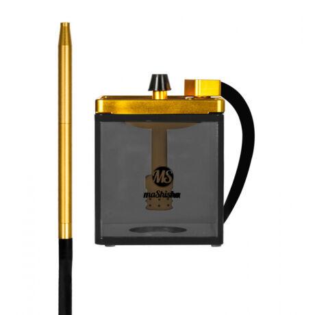 Narghilea MS Mashisha Micro Black-gold Portabil