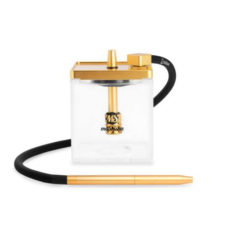 Narghilea MS Mashisha Micro Gold-clear Portabil