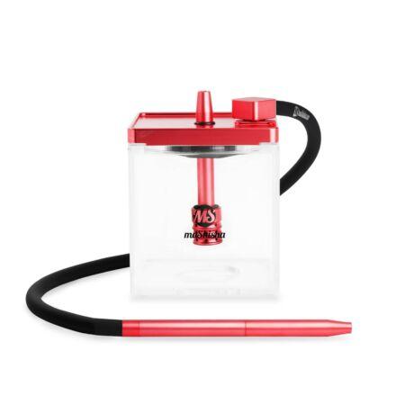 Narghilea MS Mashisha Micro Clear-red Portabil