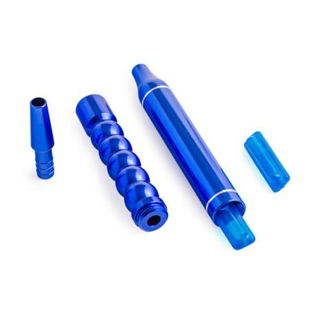 Mustiuc aspiratie furtun narghilea set H.F. blue